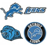 Detroit Lions 4 logos machine embroidery designs for instant download